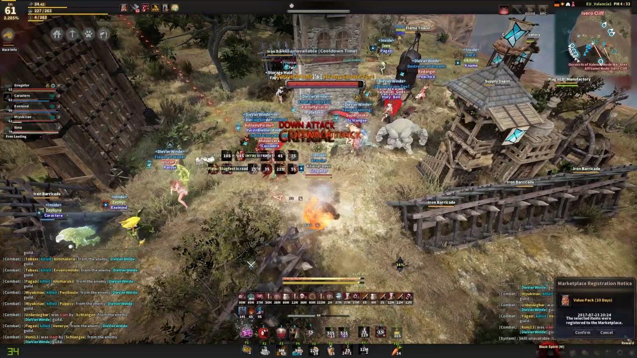 Black Desert - Berserker PvP - Inside vs Necrotic vs DieVierWinde vs
