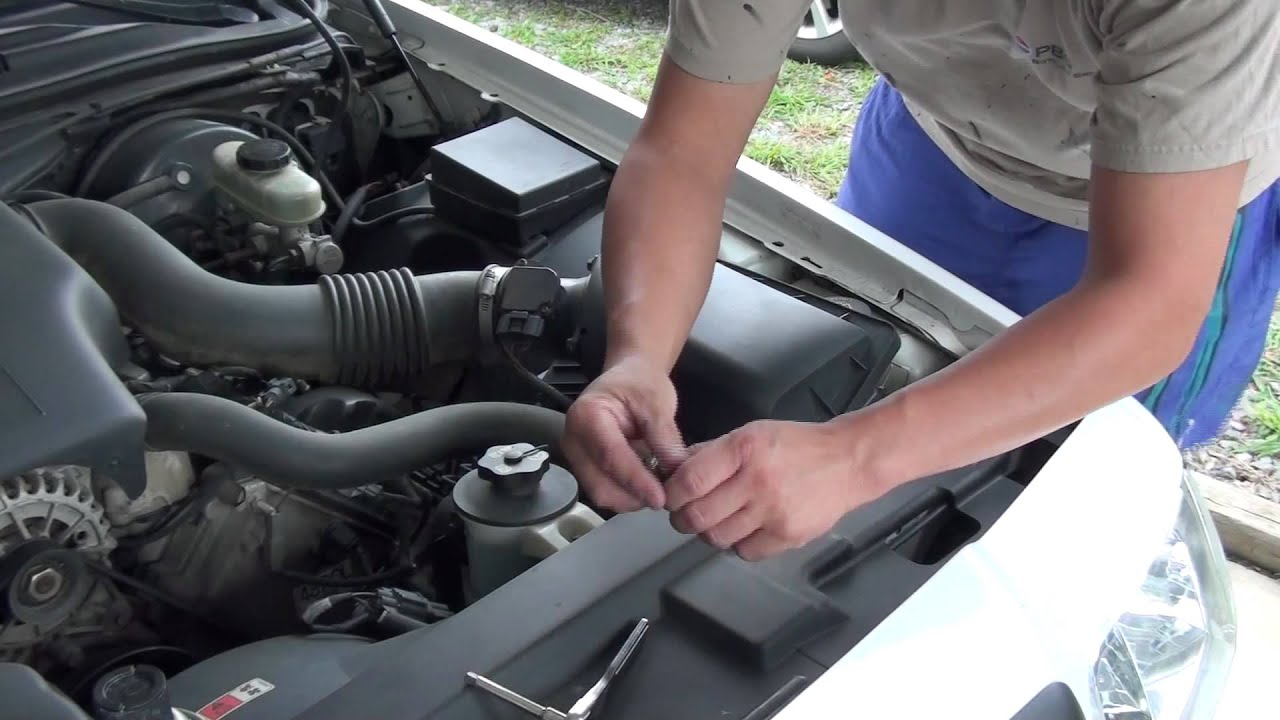 how to clean a mass air flow sensor meter m a f sensor  [ 1280 x 720 Pixel ]