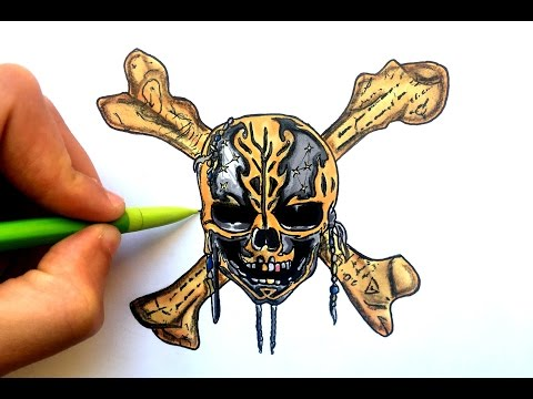 Draw Pirate Of The Caribbean 5 Logo