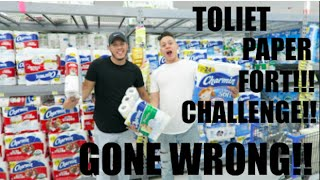 toilet paper fort challenge gone wrong