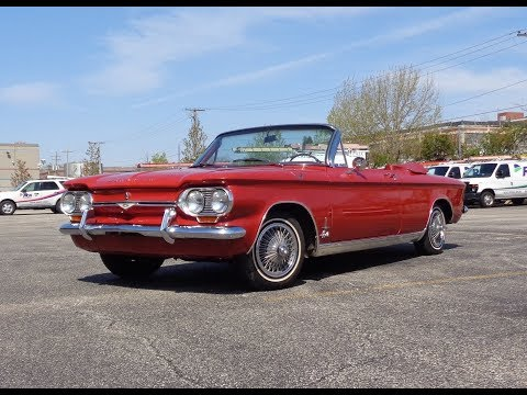 1964 Chevrolet Corvair Monza Spyder In Red & Engine Sound On My Car Story With Lou Costabile