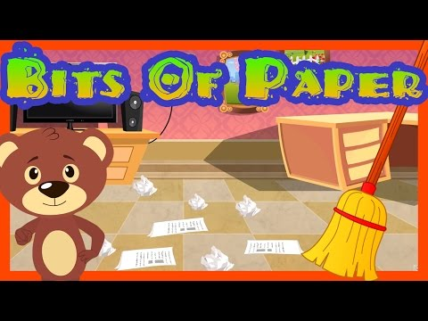 Bits of Paper || English Nursery Rhyme for Kids with Lyrics