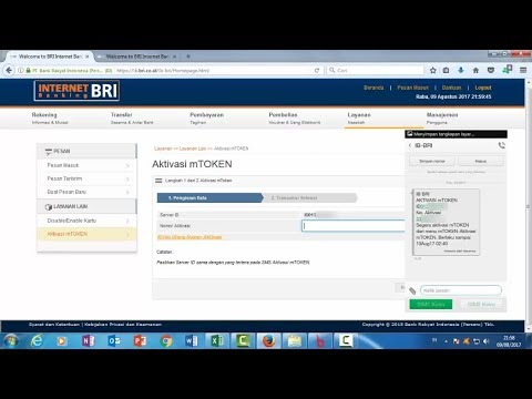 Tutorial Cara Aktivasi Mtoken Bri Internet Banking Youtube