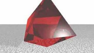 octahedron in a cube - POVRAY animation