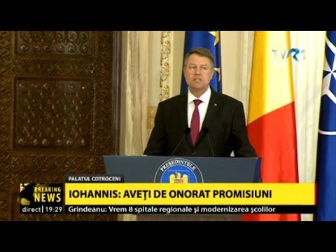 Declaraţii Klaus Iohannis, după ce membrii Cabinetului Grindeanu au depus jurământul