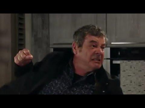 Johnny goes to hit Jenny Coronation Street
