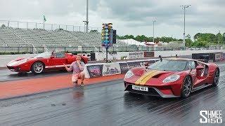 DRAG RACE: New Ford GT vs 2005 Heffner GT700