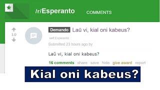 Mi ne kabeis kaj ne kabeos! | Esperanto vlogo