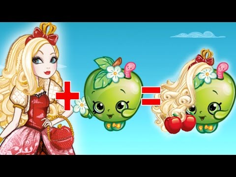 MASHUP: Shopkins + Ever After High | Apple White, Apple Blossom, Briar Beauty, Kooky Cookie & More!