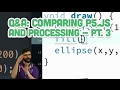 Q&A #7.3: Comparing p5.js and Processing