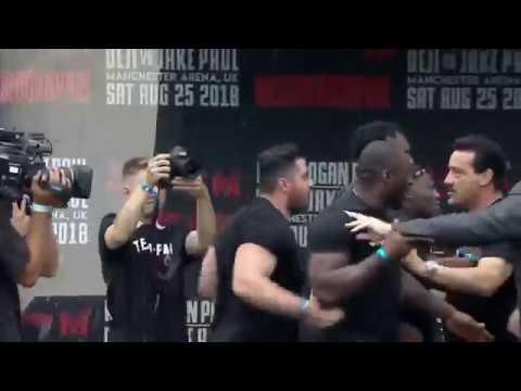 KSI ELBOWS LOGAN PAUL IN THE FACE! | KSI VS LOGAN PAUL | PRESS CONFERENCE!