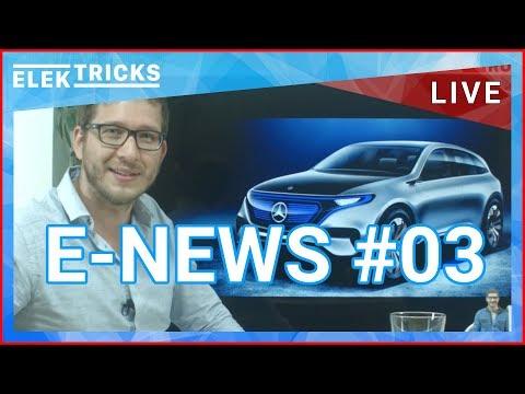 E-News #03 mit EU E-Auto Quote, Mercedes E-Auto, Tesla Solardach, Nissan Leaf, VW & Audi Prämie