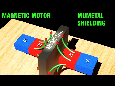 Magnetic Motor -  Shielding with MuMetal