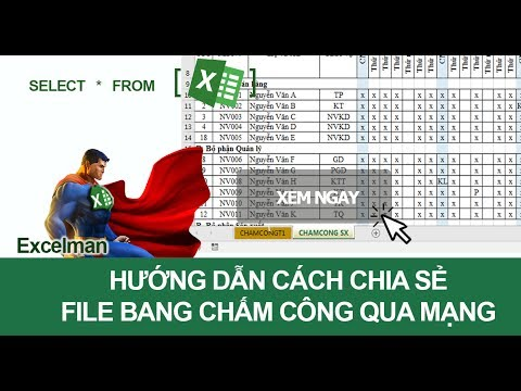Cách Chia Sẻ File Chấm Công Trên Excel Qua Mạng Cho Nhiều Người Cùng Làm Việc
