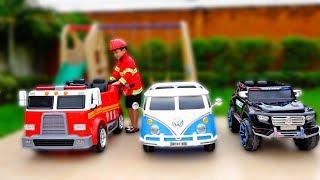 직업체험 놀이 해봐요! 예준이의 자동차 장난감 놀이 Profession Pretend Play Toy for Kids
