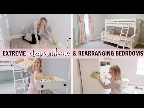 MAJOR CLEANING ORGANIZING REARRANGING BEDROOMS CLEAN DECORATE WITH ME 40 BEDROOM TOUR Simple Rearranging Bedroom
