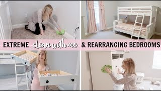 MAJOR CLEANING, ORGANIZING & REARRANGING BEDROOMS | CLEAN & DECORATE WITH ME 2018  | BEDROOM TOUR