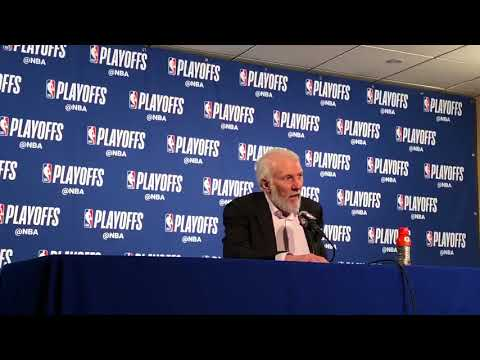 Gregg Popovich Postgame Interview / Spurs vs GS Warriors Game 1