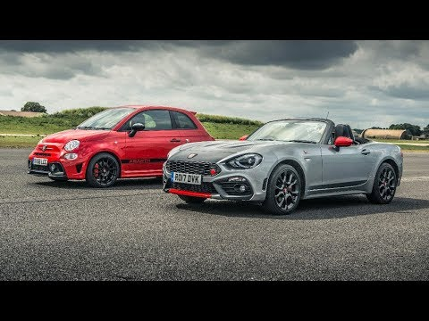 Abarth 595 Comp vs Abarth 125 Spider - Drag Races - Top Gear