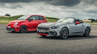 Abarth 595 Comp vs Abarth 124 Spider | Drag Races | Top Gear