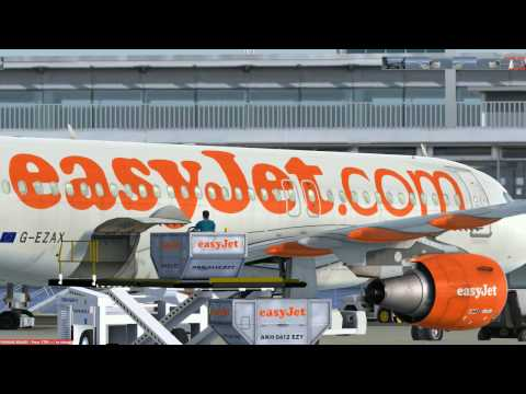 flight from Paris to Madrid A319 (easyJet)