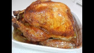 Yummy Yummy Moist Roasted Turkey and gravy Recipe
