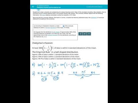 Chebyshev's theorem and the emperical rule, Elementary ...
