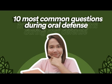 10 Most Common Questions During Oral Defense With Answers