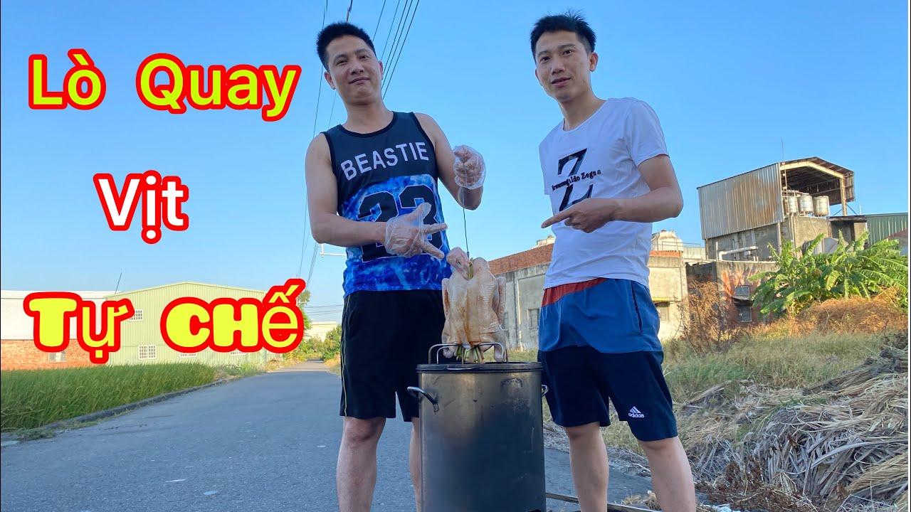 2 a e tự chế lò quay vịt và cái kết   Homemade duck rotary oven / Cuộc sống đài loan