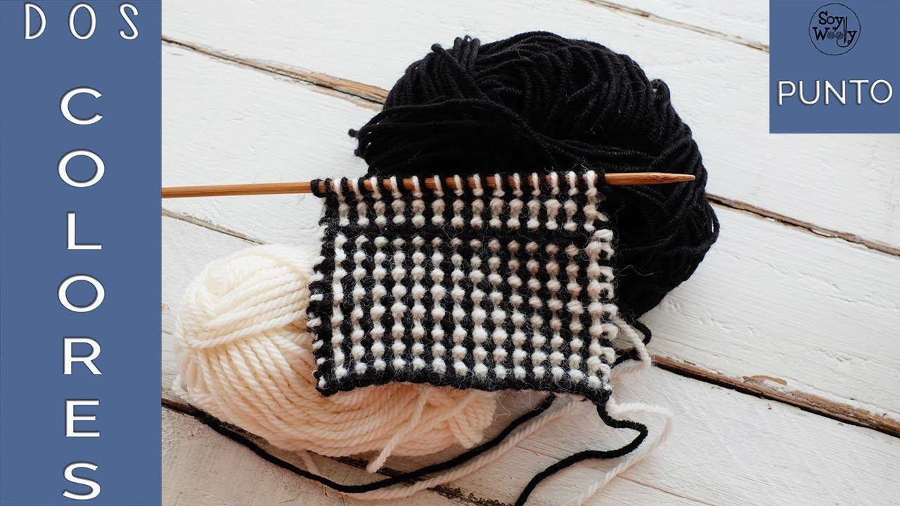 Punto en dos colores para tejer mantas y ropa de ni os en - Mantas de punto a dos agujas ...