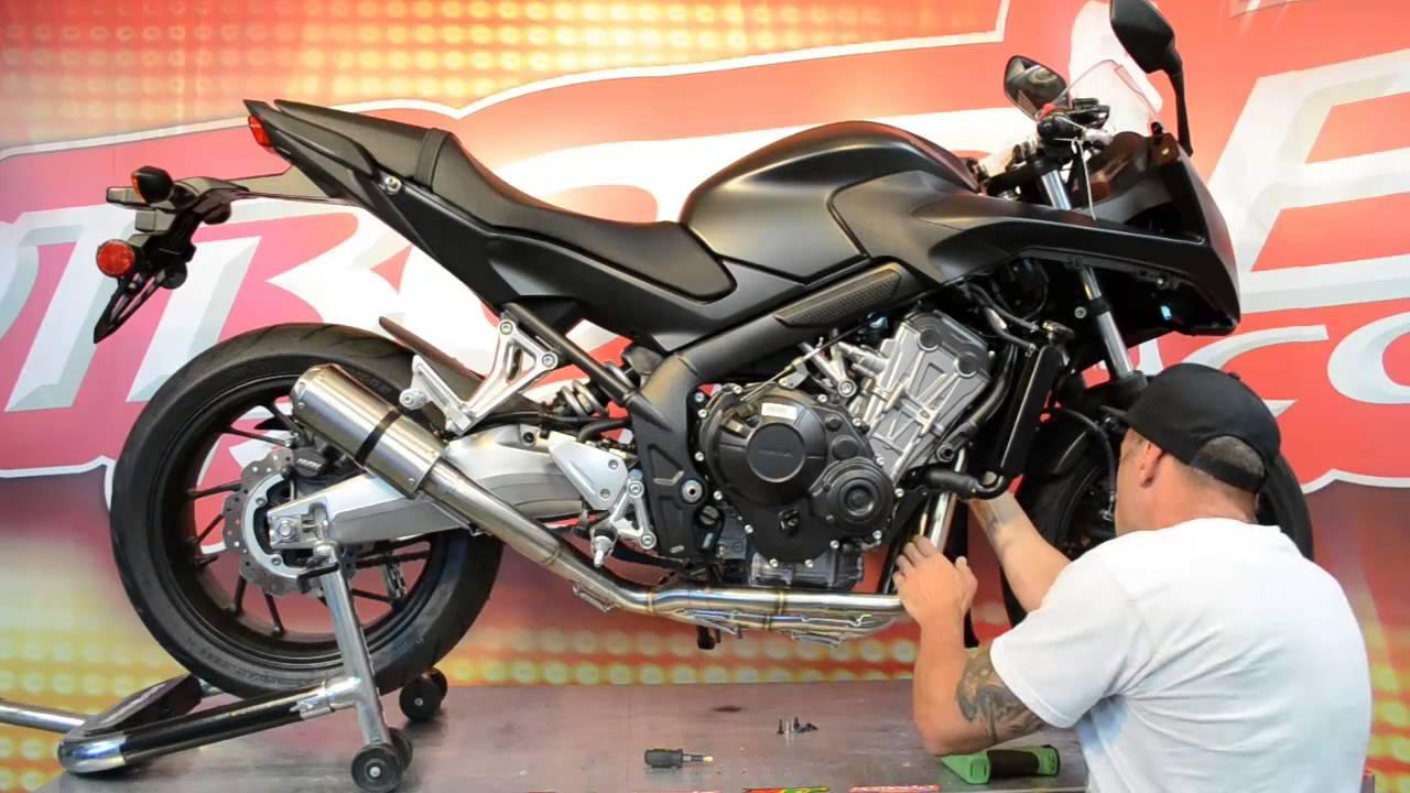 Honda Cbr650f Mgp Exhaust Install Doovi