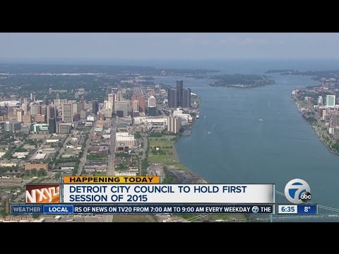 Detroit City Council holds first session of 2015