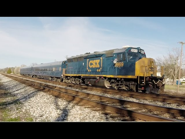 CSX Geometry Train with Rare GP40WH-2 in Ardmore House Track