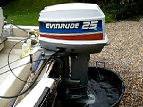 evinrude 25hp start up youtube. Black Bedroom Furniture Sets. Home Design Ideas