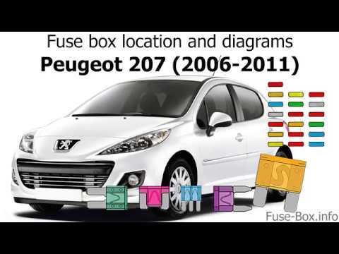 fuse box location and diagrams: peugeot 207 (2006-2011) - youtube  youtube