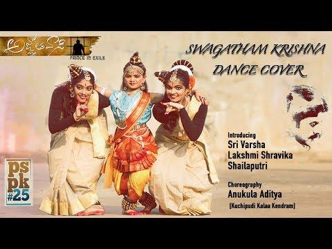 Swagatham krishna Dance cover | Agnyaathavasi tribute song | Singer Niranjana Ramanan