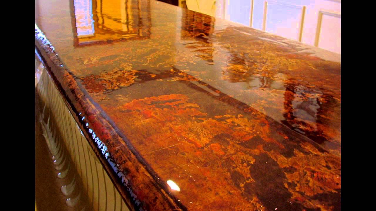 La Crescenta Acid Stained Concrete Driveway 818 902 0202
