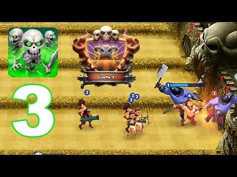 Castle Crush - Gameplay Walkthrough Part 3 - Castle 2 Lvl, Premium Chest (Android Games)