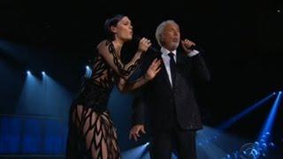 Jessie J Performs With Tom Jones At 2015 Grammy Awards
