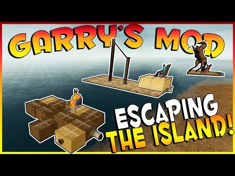 ESCAPING THE CURSED ISLAND! | Garry's Mod Gameplay | Gmod Gameplay | BUILDING A RAFT CHALLENGE!