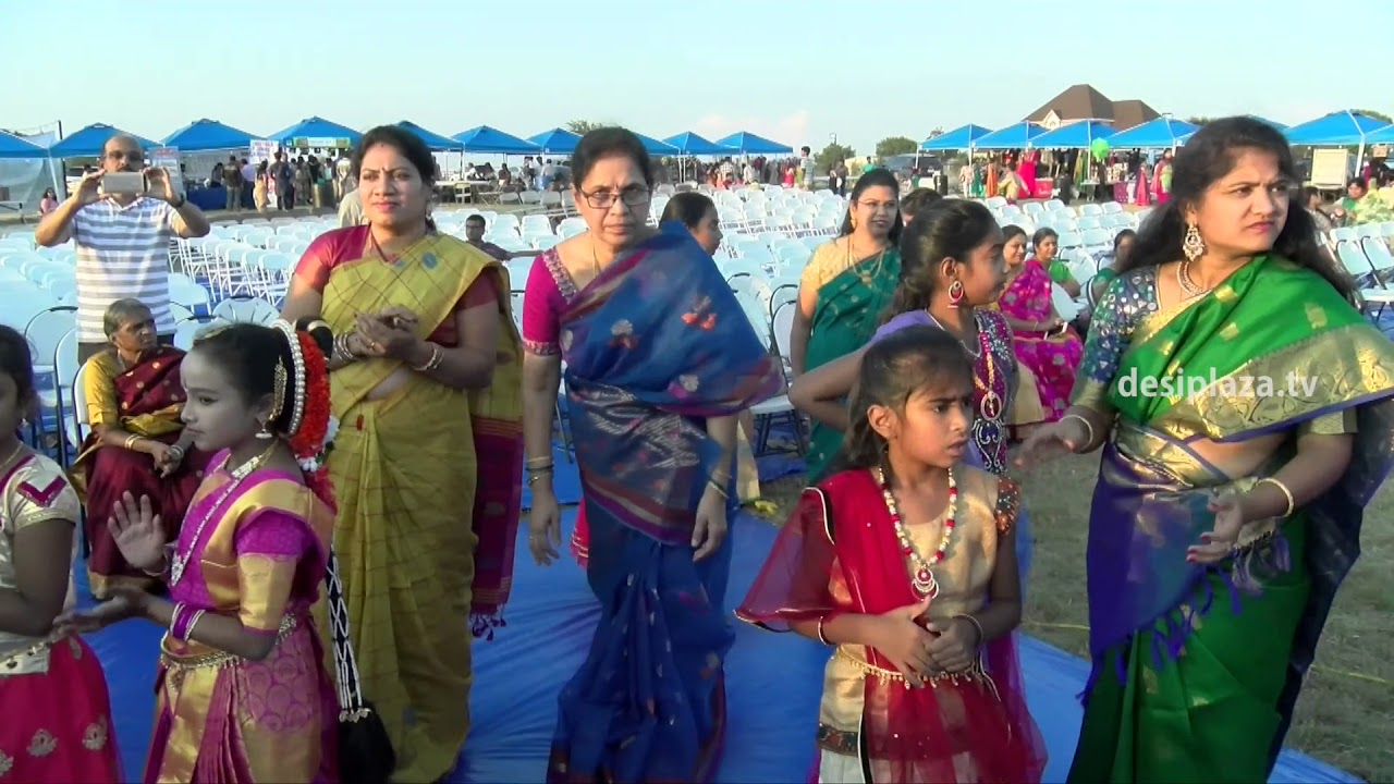 MainStage Bathukamma Dance at Dallas Area Telangana Association Bathukamma & Dasara Panduga