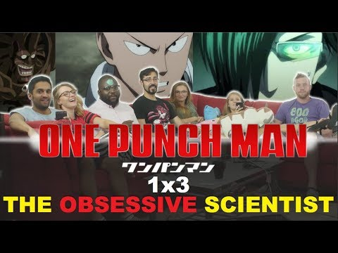 One Punch Man - 1x3 The Obsessive Scientist - Group Reaction