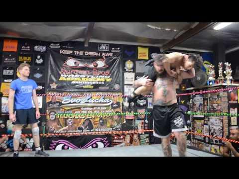 Training Match Nate vs Abe at Pro Wrestling School