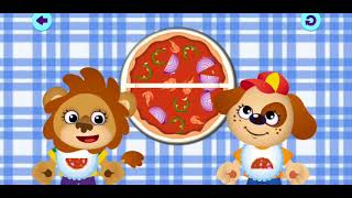 Funny Fodd 2! Pizza Game - Angles Parts Wholes - PreSchool Educational Children's Game