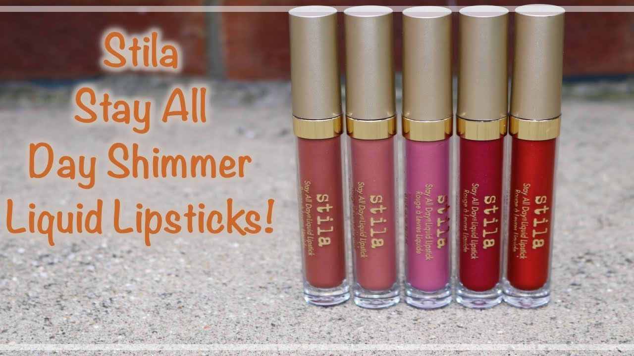 86ab6284c4 REVIEW: NEW Stila Stay All Day Shimmer Liquid Lipsticks with lip swatches