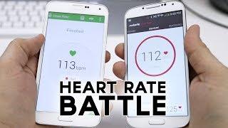 samsung galaxy s5 vs galaxy s4 vs iphone 5s heart rate sensor comparison