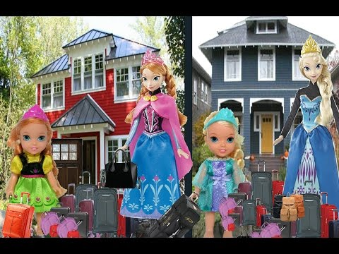 Download Anna and Elsa Toddlers Move To A New House Part 1 Elsya & Annya are Moving House! Packing! Toys