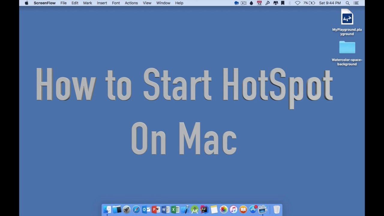 Start Hotspot on Mac OS to Use as Wi-Fi