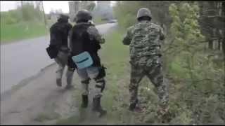 Live Firefight Ukranians Vs Ukranians (army Vs Citizens) 04 24 14