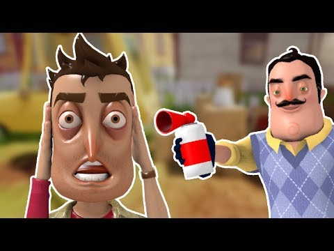 AIR HORN PRANK | Hello Neighbor